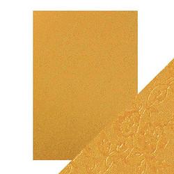 Tonic Luxury Embossed -kartonki, Honey Gold Roses, 5 arkkia