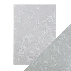 Tonic Luxury Embossed -kartonki, Steel Toile, 5 arkkia