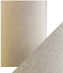 Tonic Luxury Embossed -kartonki, Golden Leaves, 5 arkkia