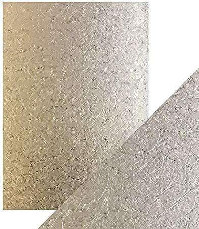 Tonic Luxury Embossed -kartonki, Golden Leaves, 5 arkkia