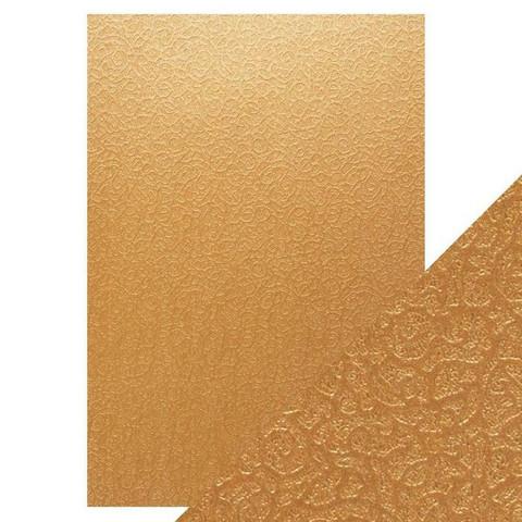 Tonic Luxury Embossed -kartonki, Bronze Labyrinth, 5 arkkia
