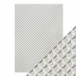 Tonic Hand Crafted Cotton -paperi, Silver Chequer, 5 arkkia