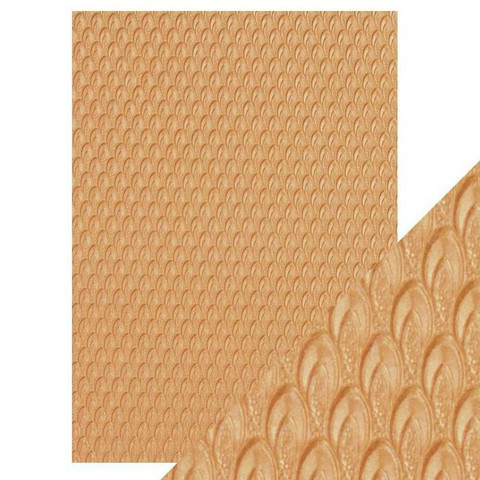 Tonic Hand Crafted Cotton -paperi, Golden Scales, 5 arkkia
