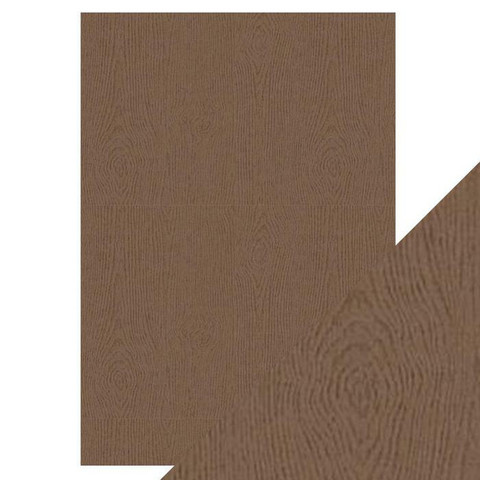 Tonic Hand Crafted Cotton -paperi, Oak Woodgrain, 5 arkkia