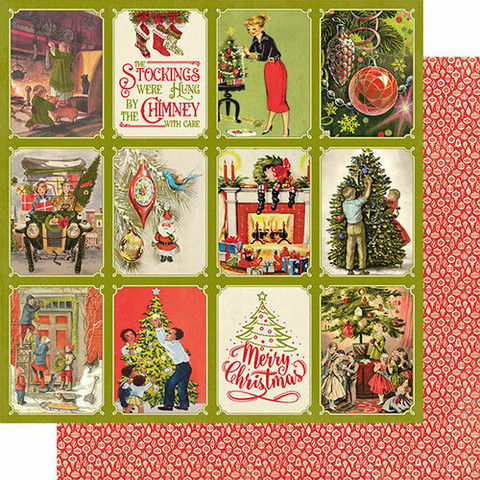 Authentique Christmas Greetings skräppipaperi Deck The Hall