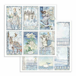 Stamperia Winter Tales skräppipaperi Cards