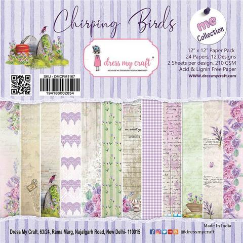 Dress My Craft paperipakkaus Chirping Birds, 12