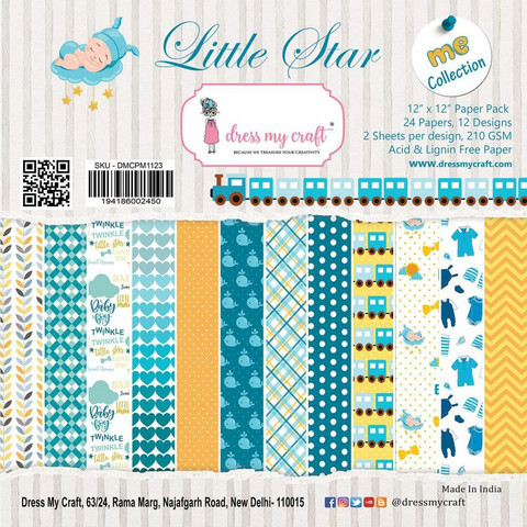 Dress My Craft paperipakkaus Little Star, 12