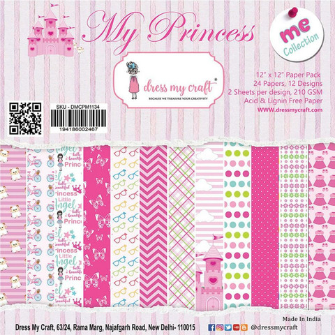 Dress My Craft paperipakkaus My Princess, 12