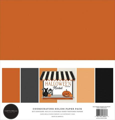 Carta Bella Halloween Market, Solids -paperipakkaus, 12