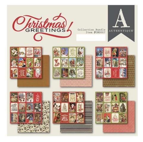 Authentique paperipakkaus Christmas Greetings