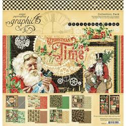 Graphic 45 -paperipakkaus Christmas Time, 12