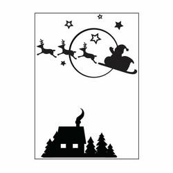 Darice kohokuviointikansio Santa Flying Sleigh