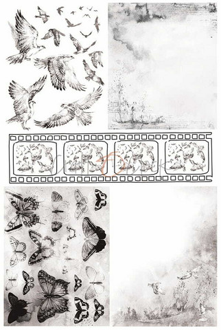 Craft O'clock Mixed Media 1 -kuultopaperi
