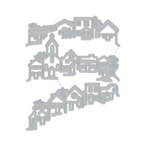 Hero Arts stanssisetti Tri-Fold Edge Village