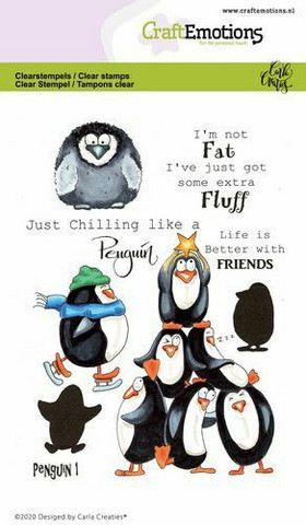 CraftEmotions leimasinsetti Penguin 1