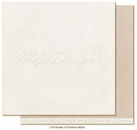 Maja Design Monochromes - Shades of Tradition skräppipaperi White