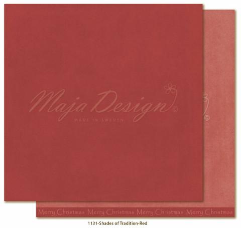 Maja Design Monochromes - Shades of Tradition skräppipaperi Red