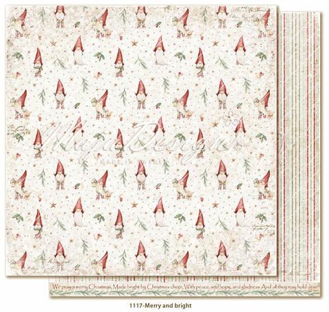 Maja Design Traditional Christmas skräppipaperi Merry and bright