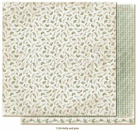 Maja Design Traditional Christmas skräppipaperi Holly and pine