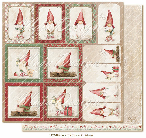 Maja Design Traditional Christmas skräppipaperi Die Cuts