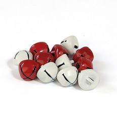 Hobby Fun kulkuset, punainen ja valkoinen 10 mm, 12 kpl