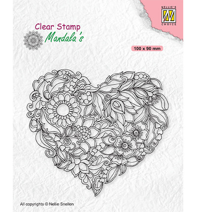 Nellie's Choice leimasin Mandala Flower Heart