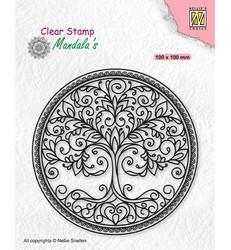 Nellie's Choice leimasin Mandala Circle with Tree