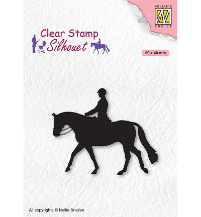 Nellie's Choice leimasin Silhouette Horseman