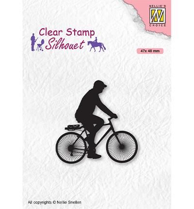 Nellie's Choice leimasin Silhouette Cyclist