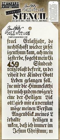 Tim Holtz Script -sapluuna