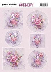 Yvonne Creations korttikuvat Pink Flowers