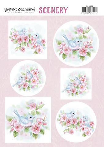 Yvonne Creations korttikuvat Pink Blossom