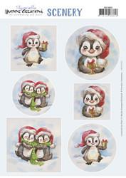 Yvonne Creations korttikuvat Christmas Penguin