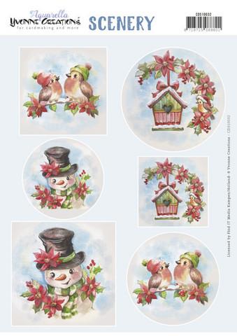 Yvonne Creations korttikuvat Christmas Birds