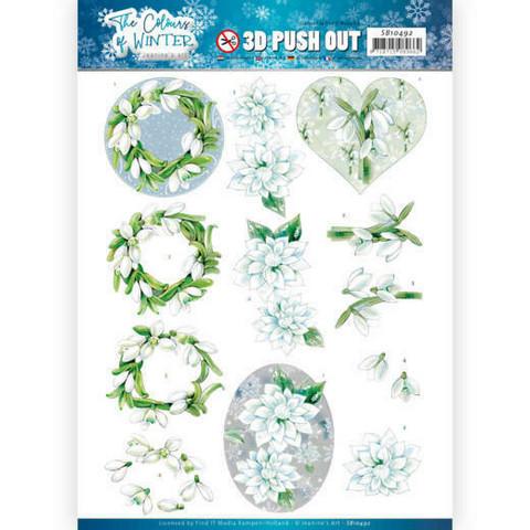 Jeanine's Art The colours of winter 3D-kuvat White winter flowers