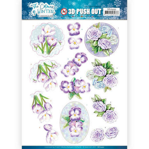 Jeanine's Art The colours of winter 3D-kuvat Purple winter flowers