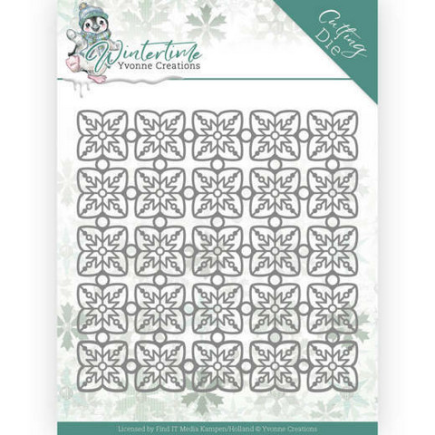 Yvonne Creations Wintertime stanssi Snowflake Pattern
