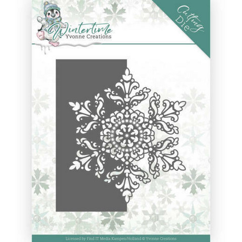 Yvonne Creations Wintertime stanssi Snowflake Border
