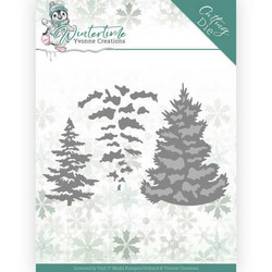 Yvonne Creations Wintertime stanssisetti Pine Tree