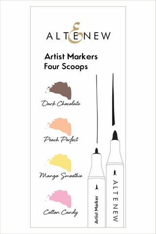 Altenew Artist Markers -setti Four Scoops, alkoholitussit