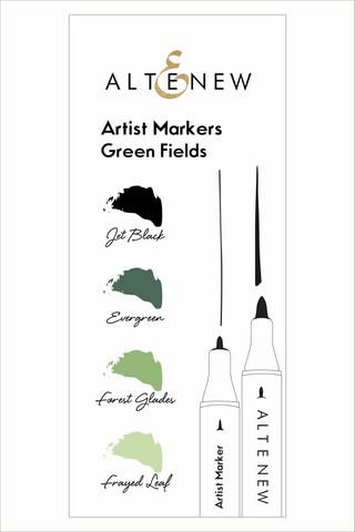 Altenew Artist Markers -setti Green Fields, alkoholitussit
