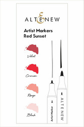 Altenew Artist Markers -setti Red Sunset, alkoholitussit