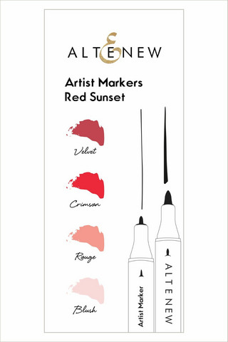 Altenew Artist Markers -setti Red Sunset, alkoholitussit