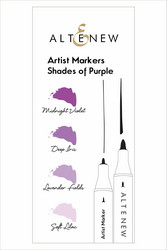 Altenew Artist Markers -setti Shades of Purple, alkoholitussit