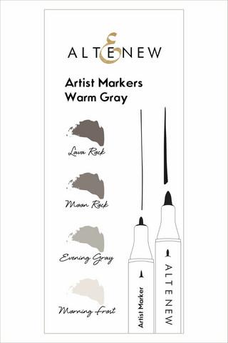 Altenew Artist Markers -setti Warm Gray, alkoholitussit