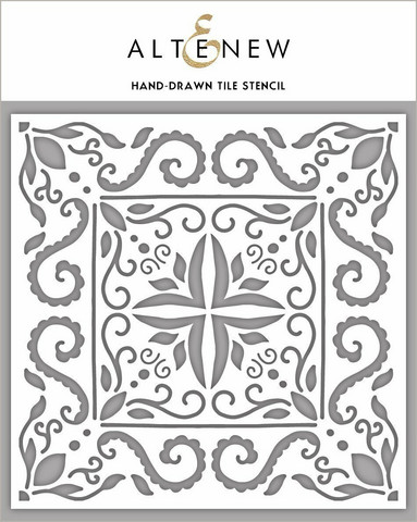 Altenew Hand Drawn Tile -sapluuna