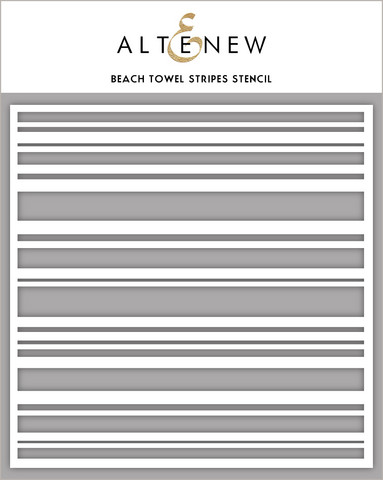 Altenew Beach Towel Stripes -sapluuna
