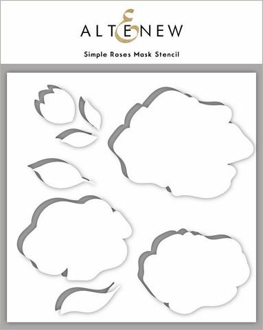 Altenew Simple Roses sapluuna- ja maskisetti