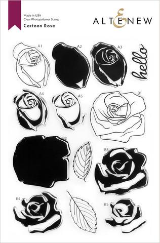 Altenew Cartoon Rose -leimasinsetti